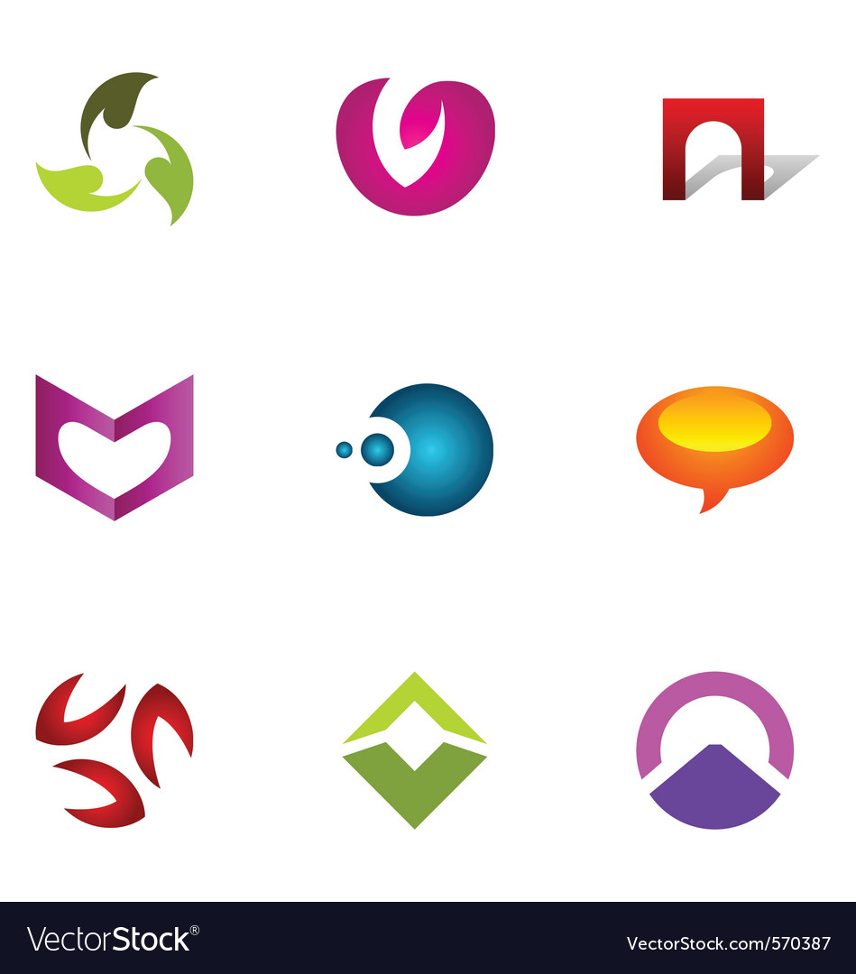 Logo design elements set 51