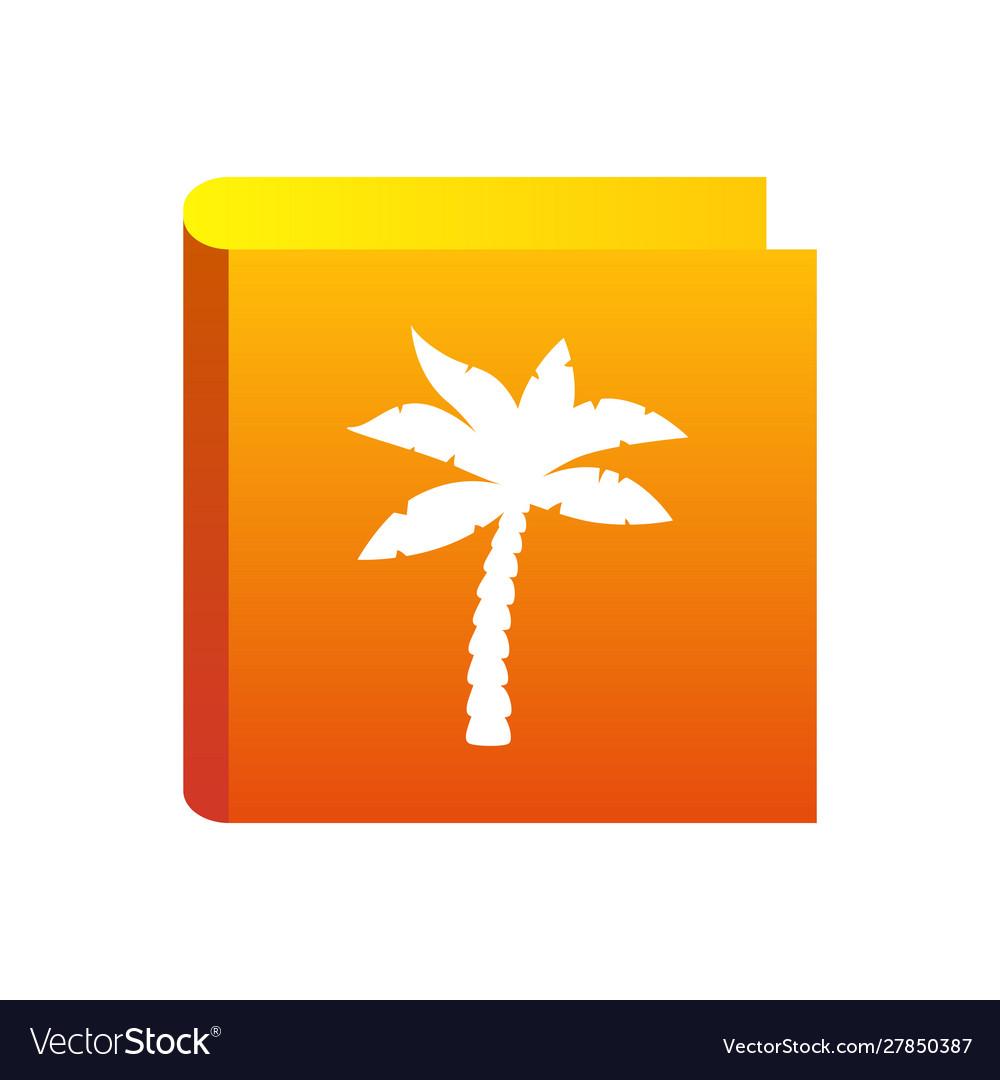 Palm icon for travel company tropic palm tree