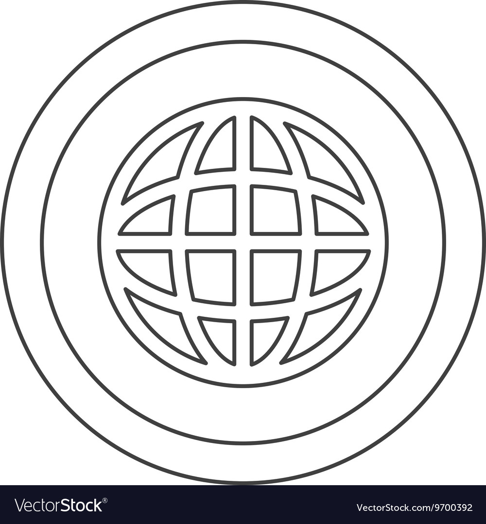 Remarkable Earth Globe Diagram Inside Circle Icon Royalty Free Vector Wiring 101 Archstreekradiomeanderfmnl