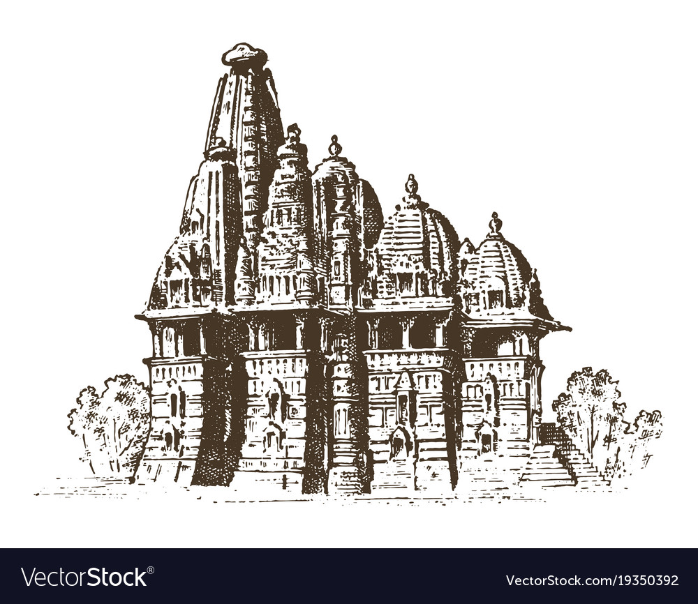 Landmark of indian architecture traditional vector image