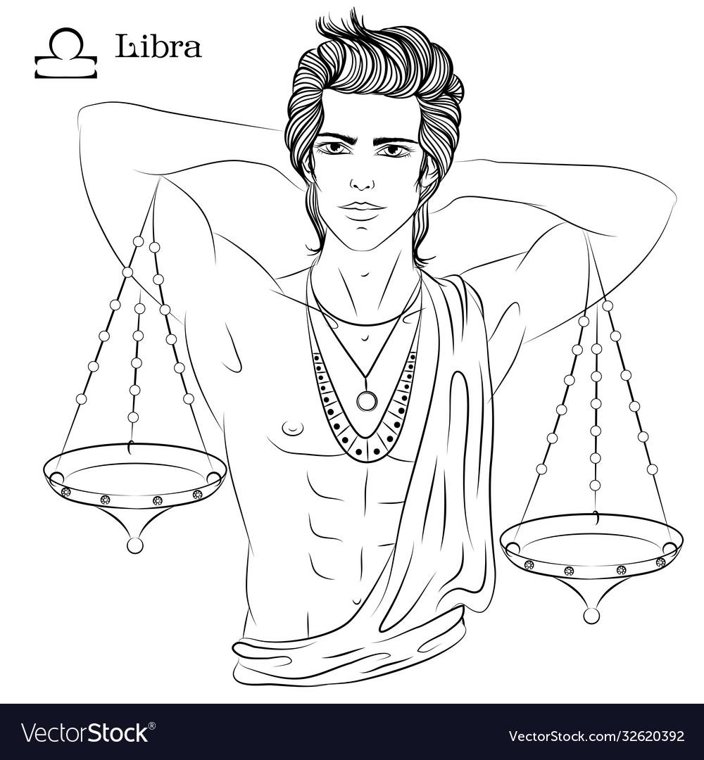 Libra line art