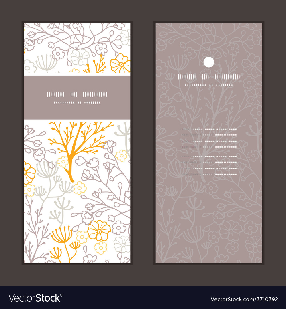 Magical floral vertical frame pattern