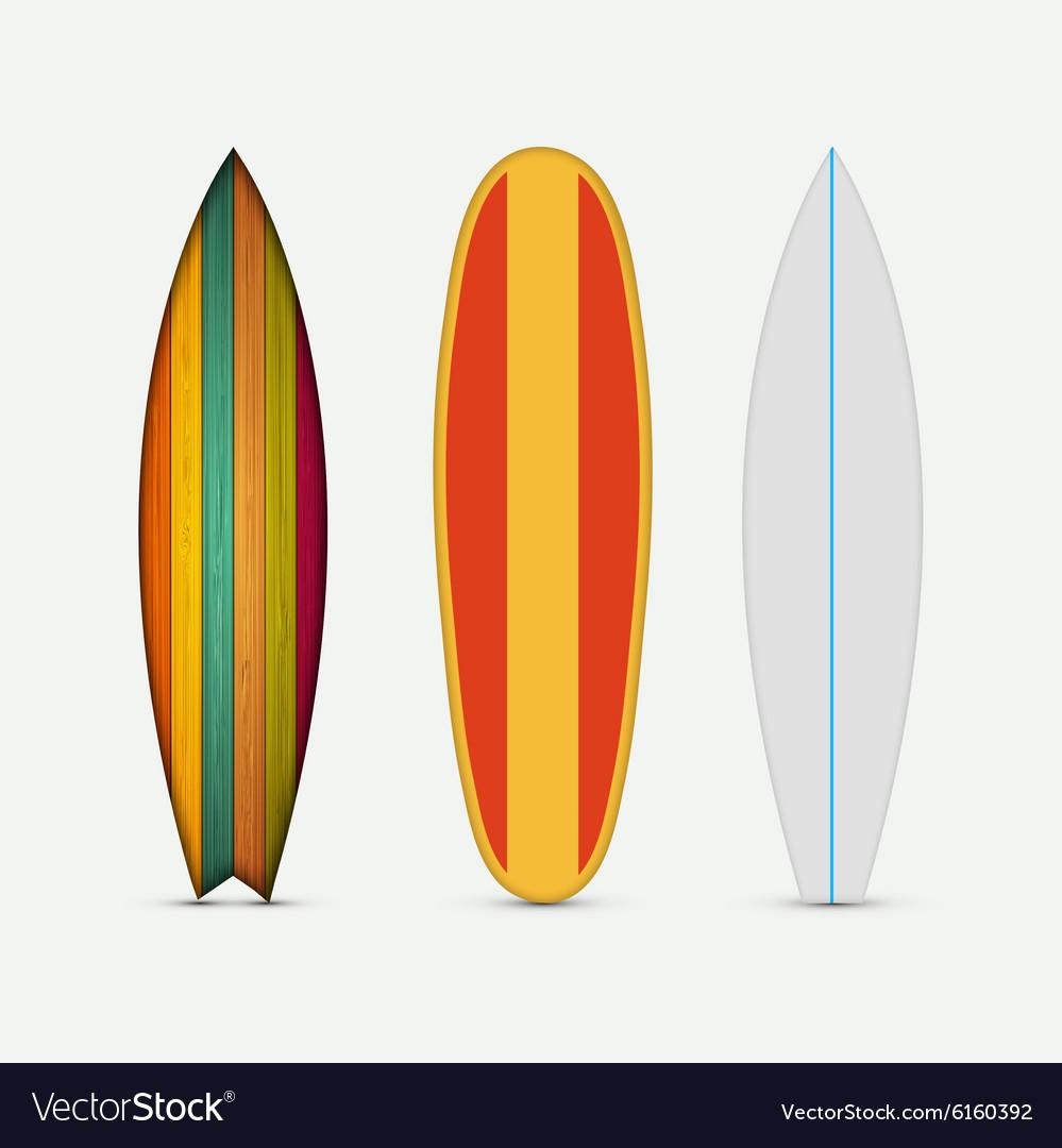 Modern colorful surfboard set