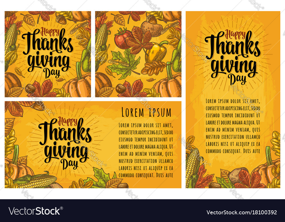 Seamless pattern for thanksgiving day vintage