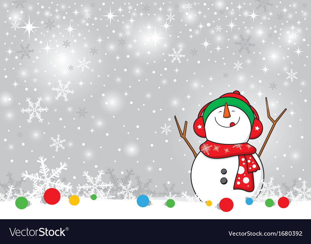 snowman design for christmas background vector 1680392
