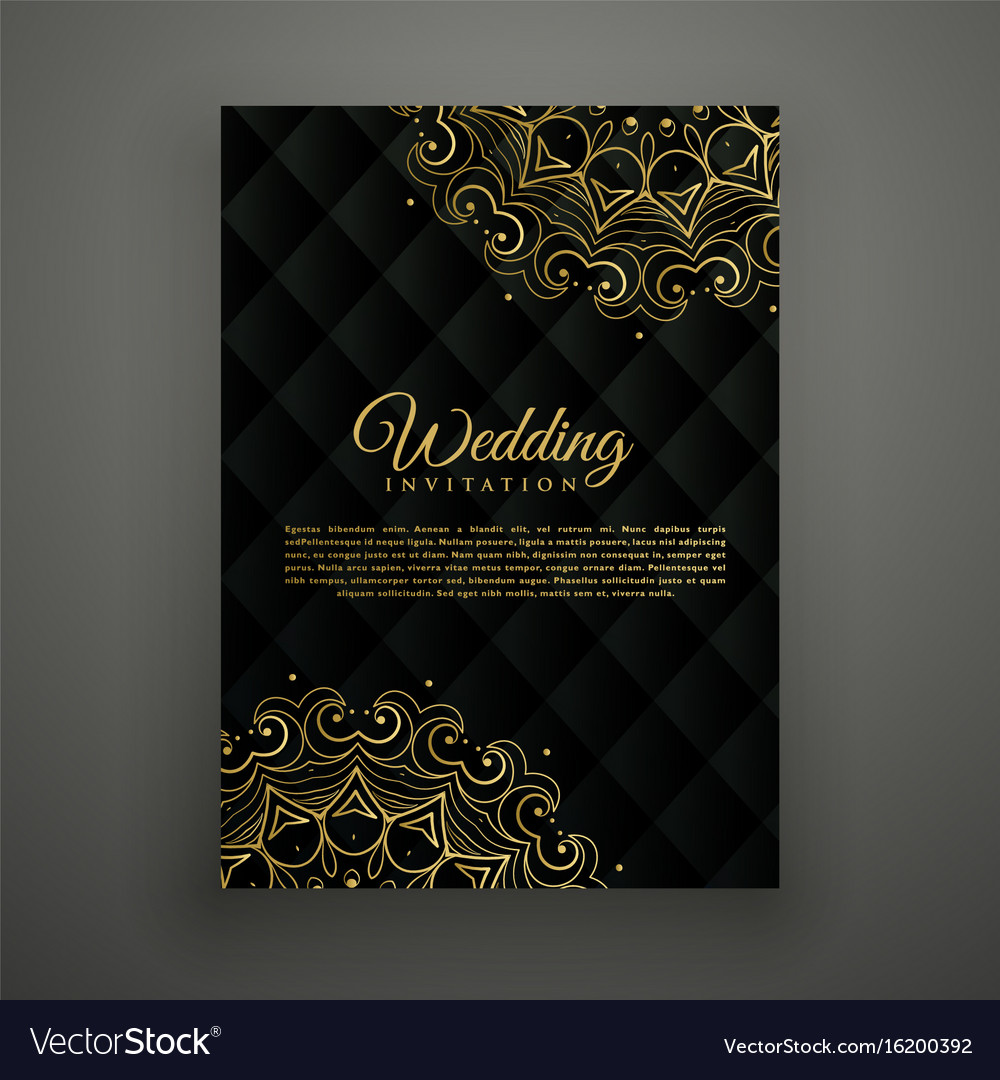 Wedding Card Design In Mandala Style Royalty Free Vector