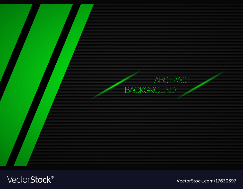 Black and green abstract background with place