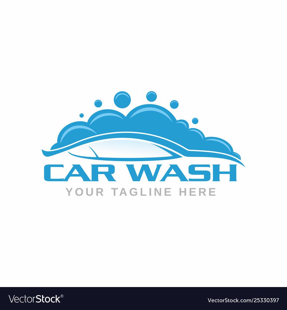 car wash logo royalty free vector image - vectorstock  vectorstock
