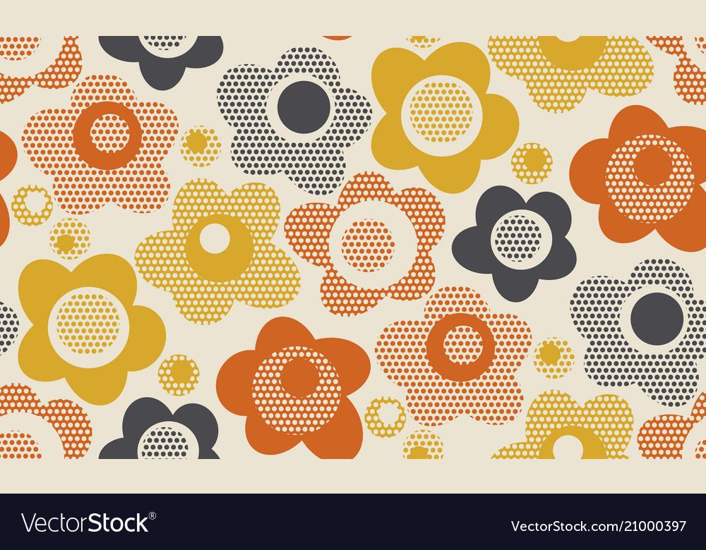 Creative vintage stylized floral pattern