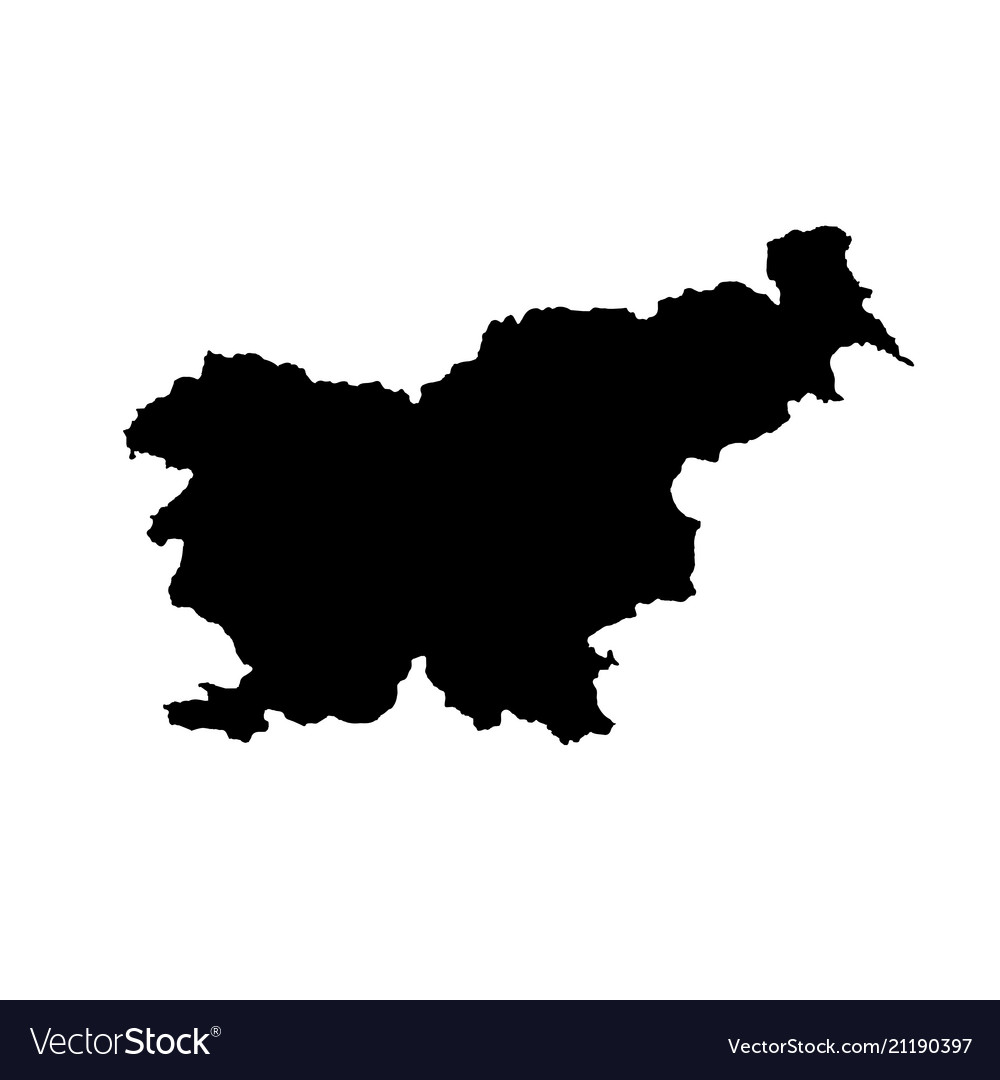 Map slovenia isolated black
