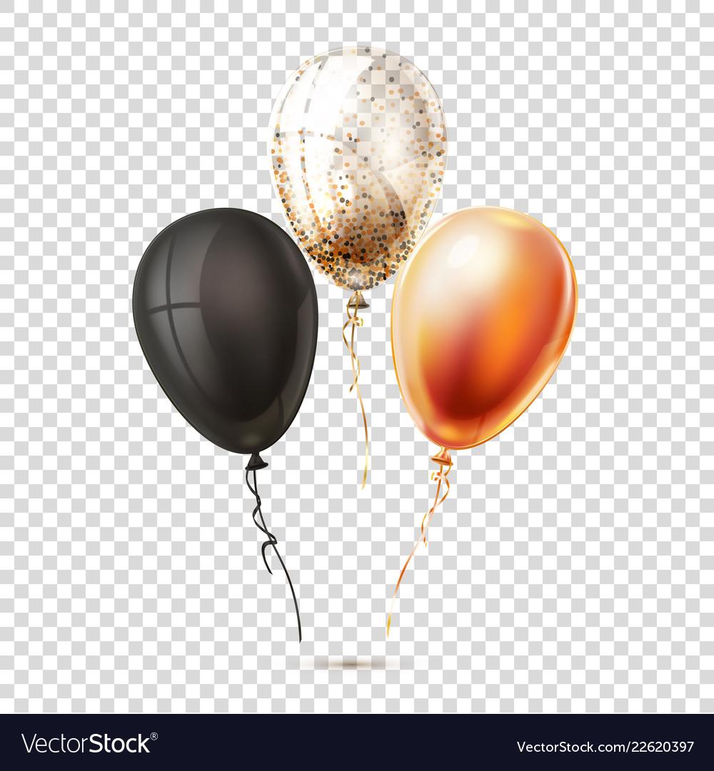 Realistic shiny balloons