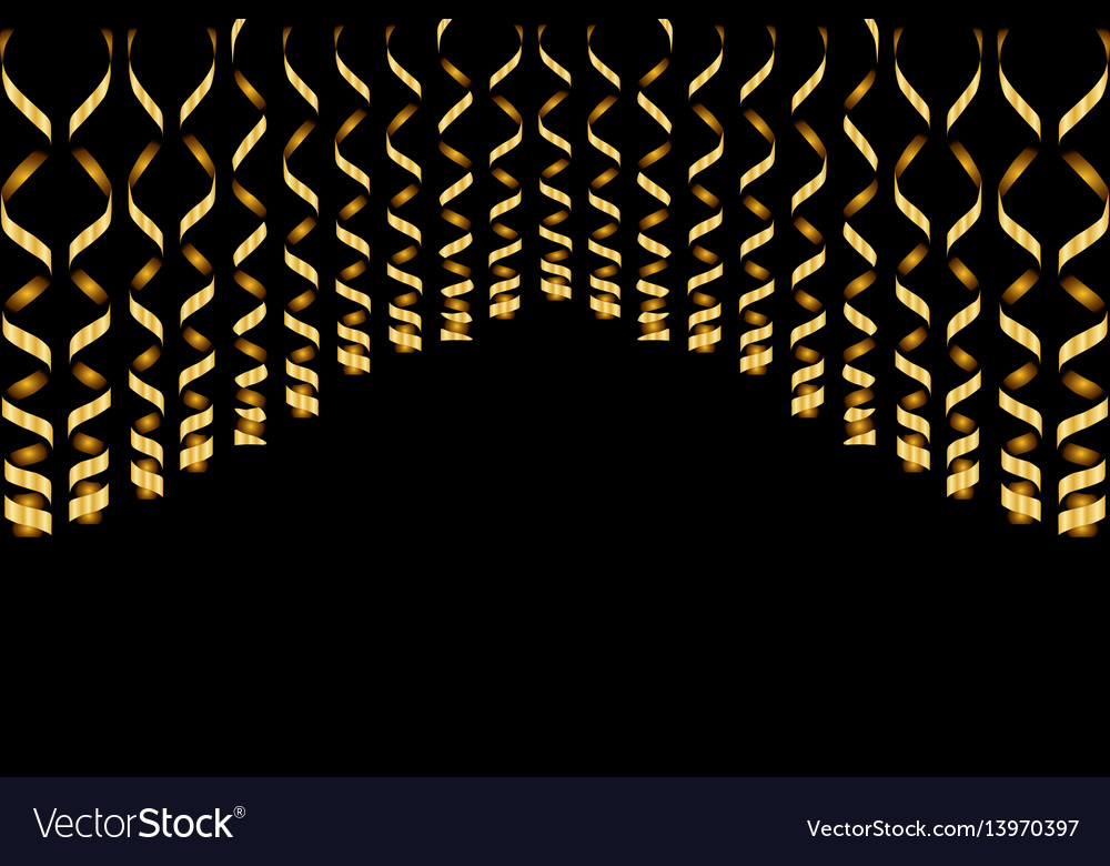 Serpentine ribbons isolated on background vector image
