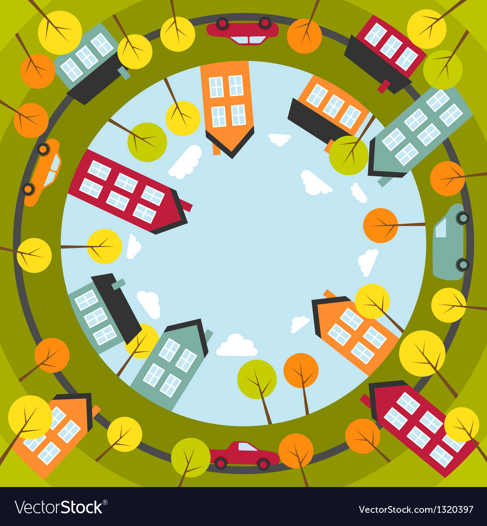 Small spherical town vector image