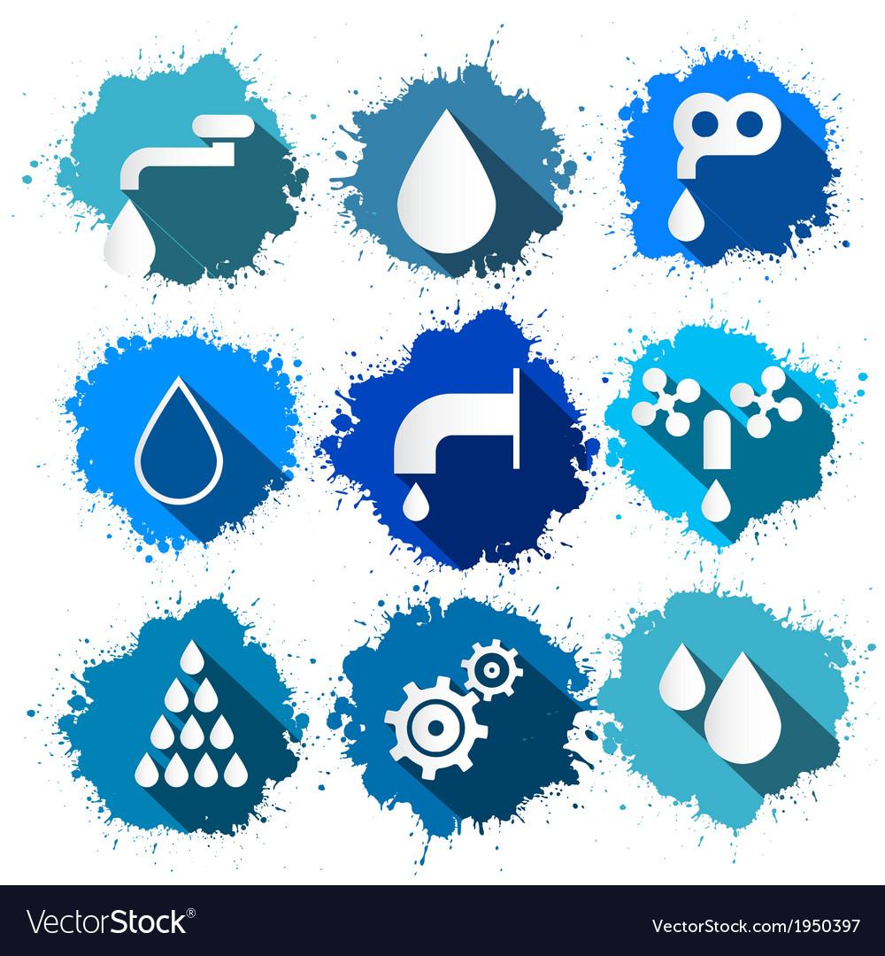Water Symbols - Icons Splash Set