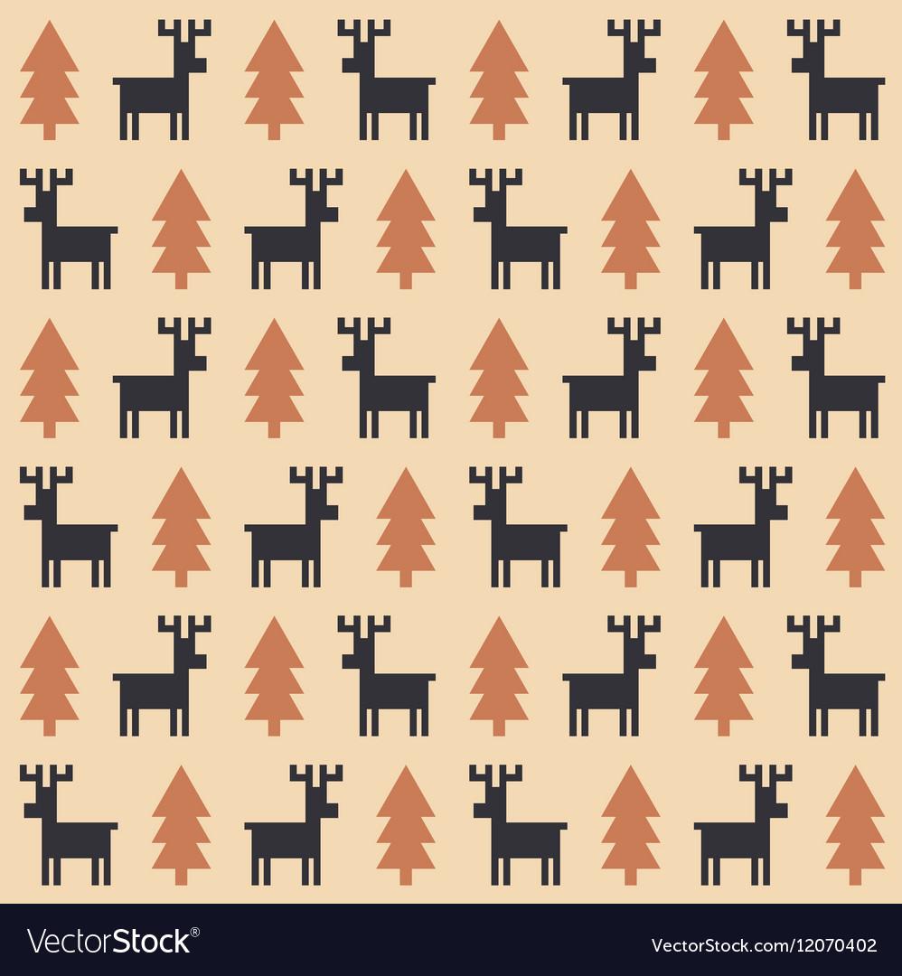 Christmas deer pattern