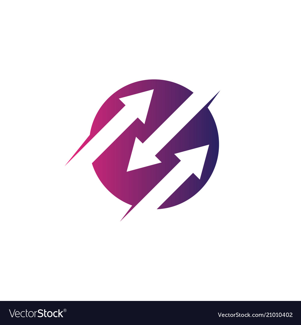 Circle arrow business technology logo