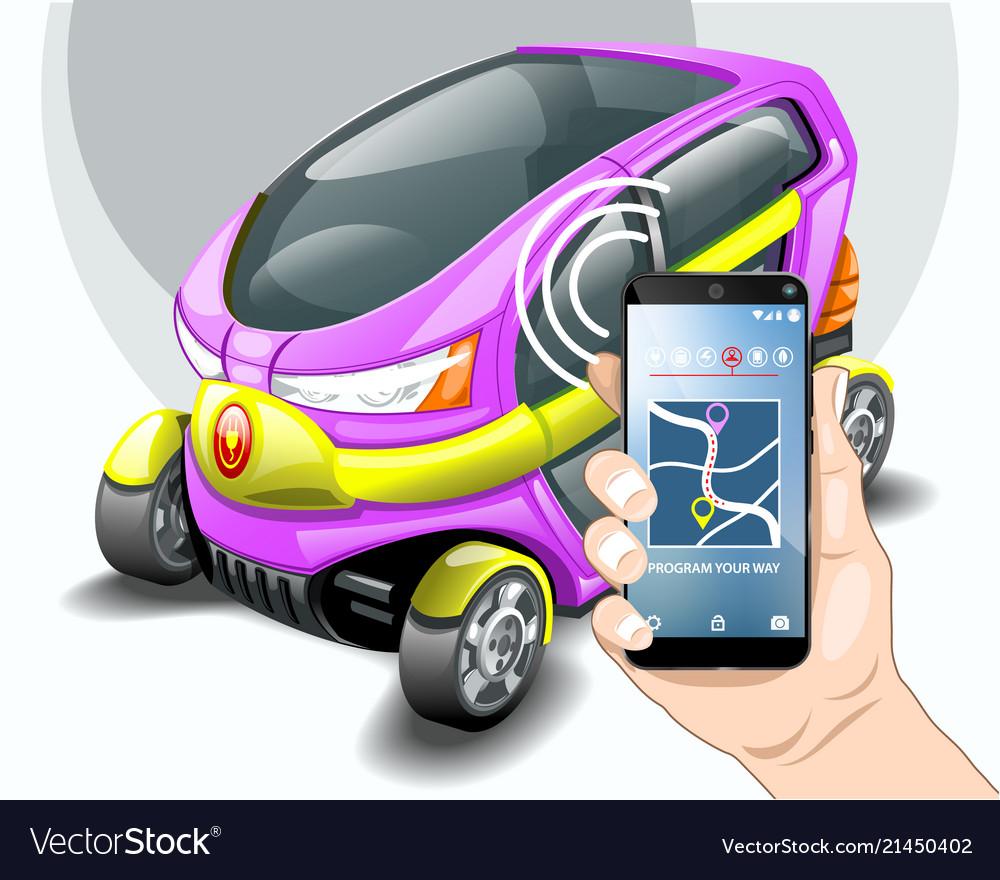 Electric car phone navigation system