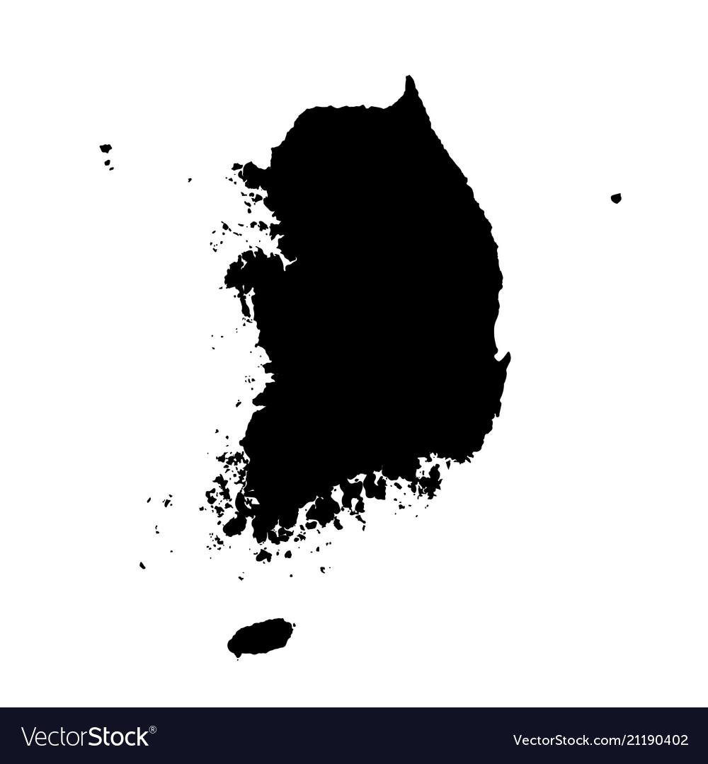 south korea map vector Map South Korea Isolated Royalty Free Vector Image