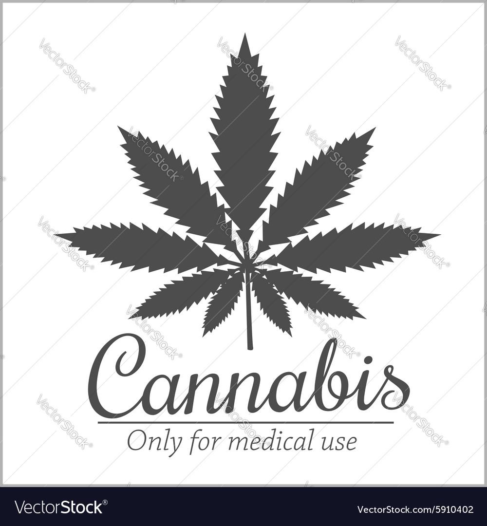 Marijuana - cannabis For medical use set vector image