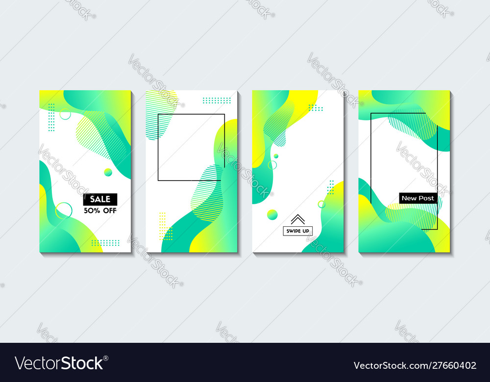 Set vertical abstract backgrounds