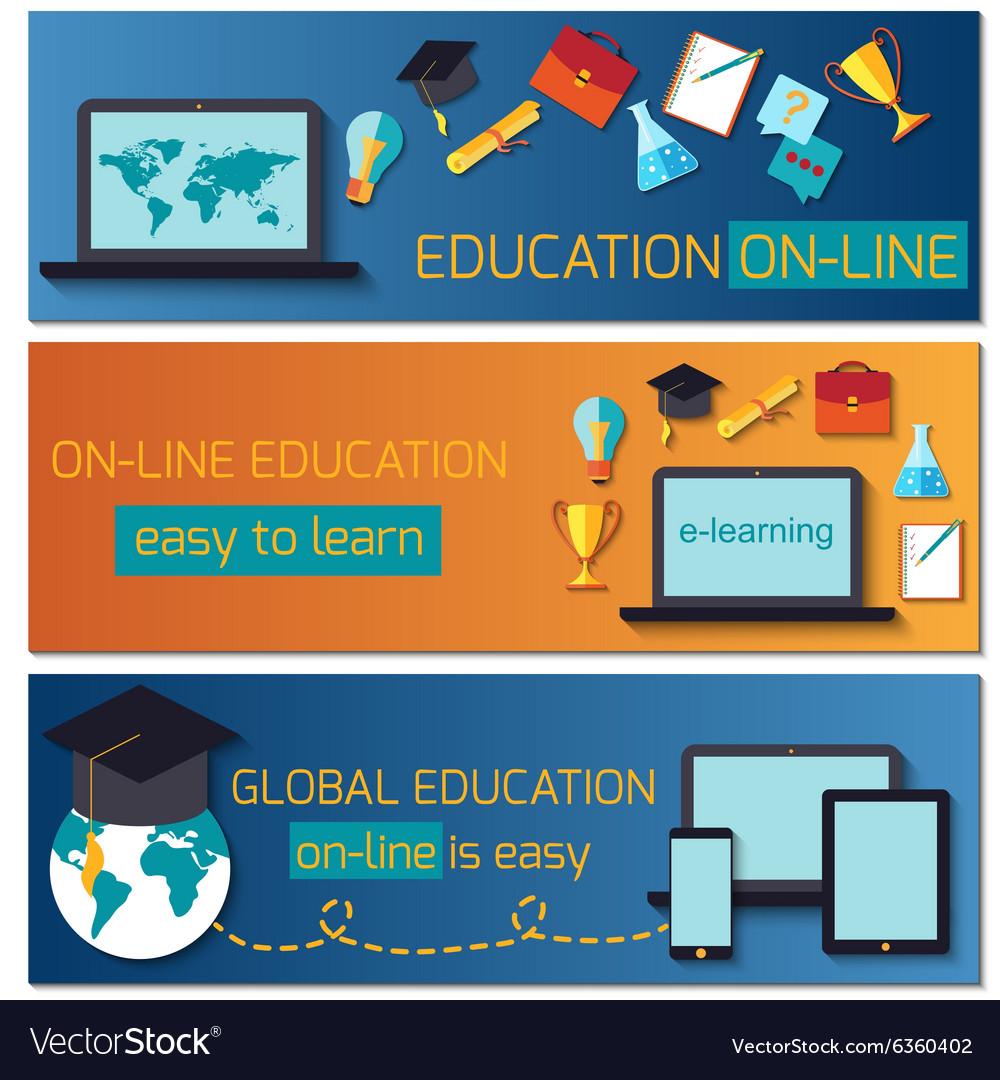 Web banner concept for online education