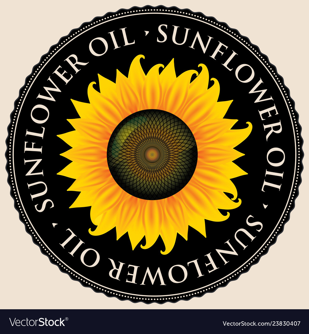 Banner for sunflower oil with sunflower