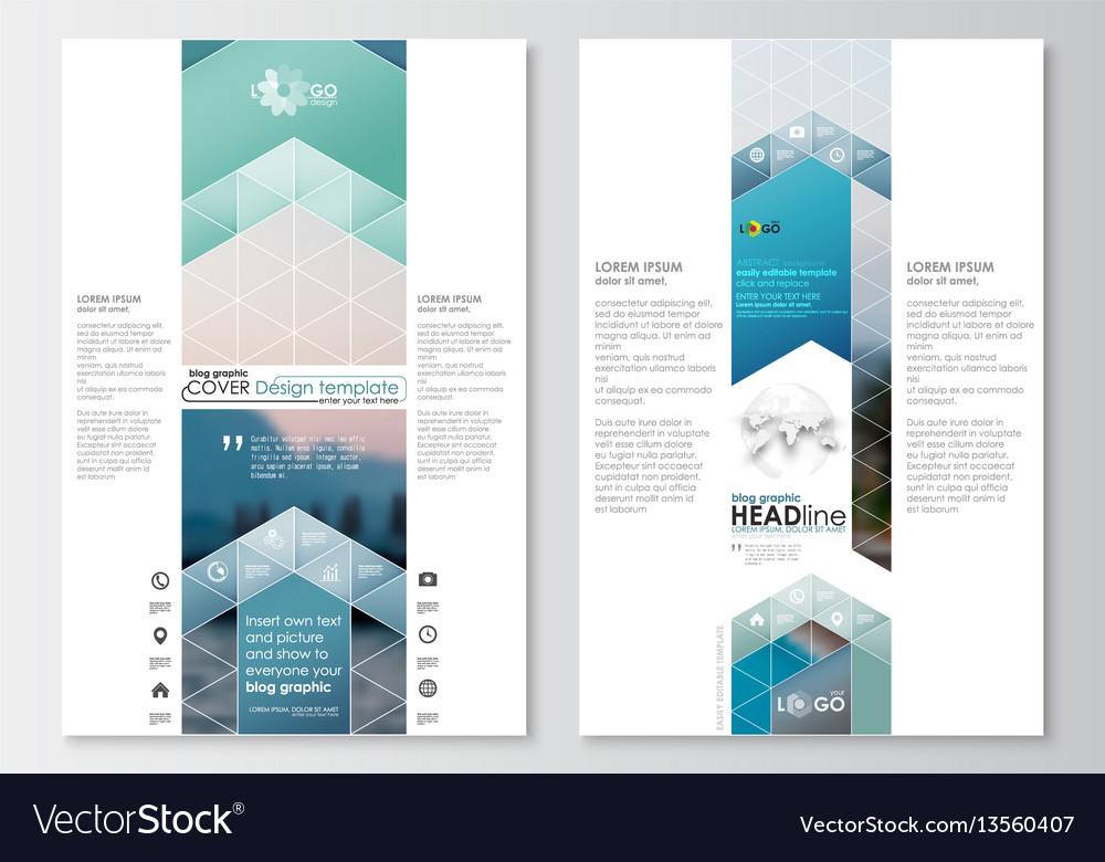 Blog graphic business templates page website