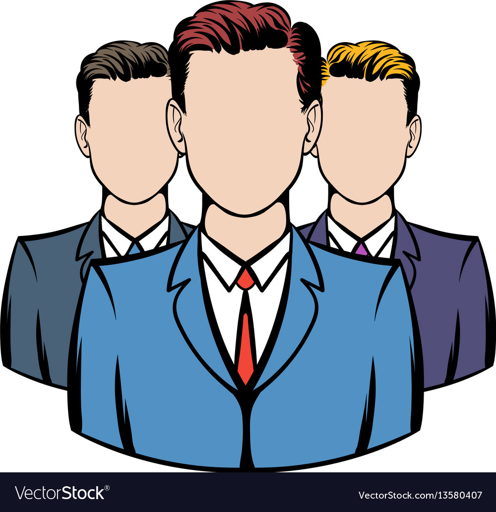 Businessmen icon cartoon