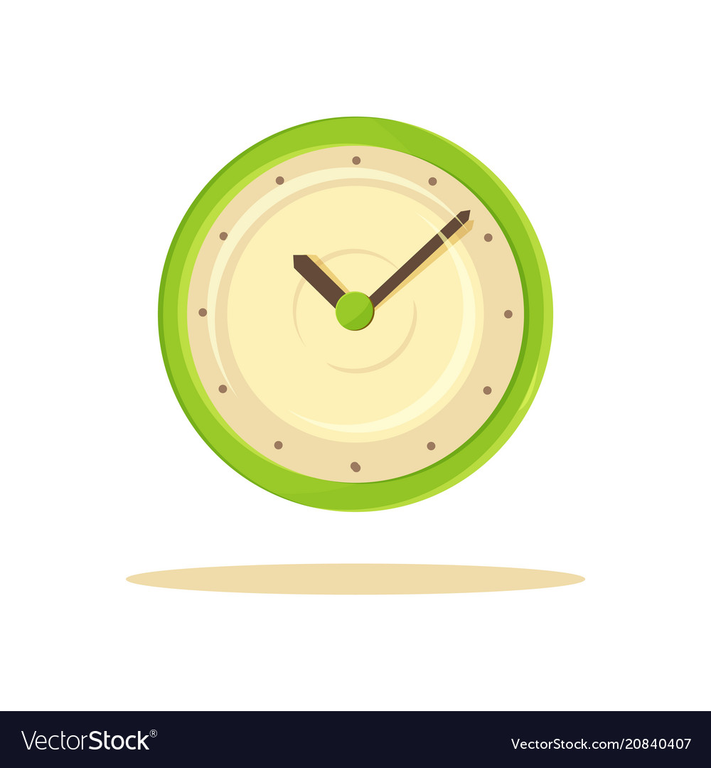 Color clock template banner