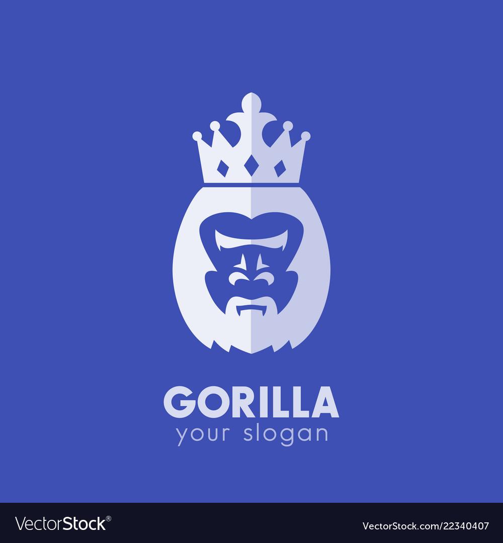 Gorilla king logo elements