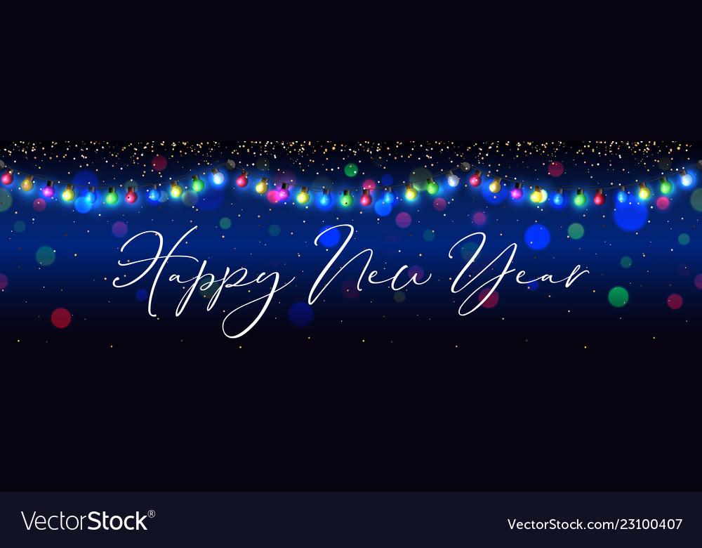 Happy new year celebration garland background