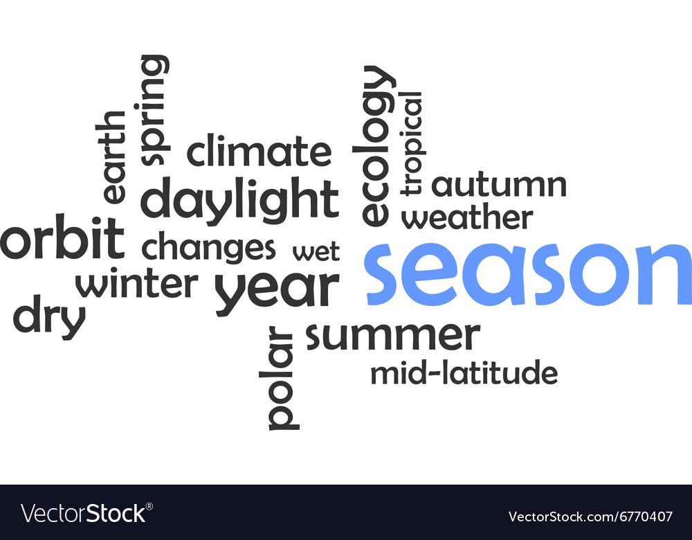 Word cloud season