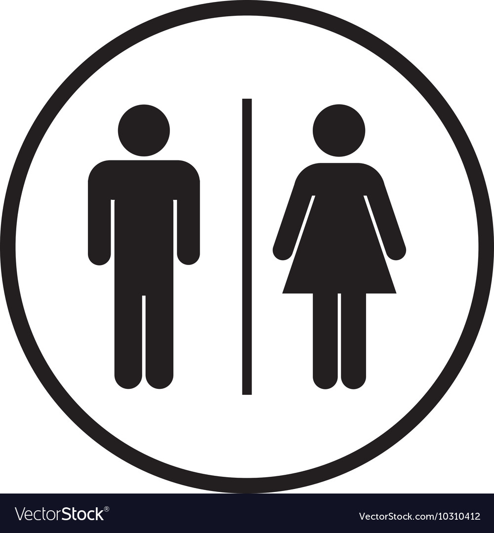 Bathroom Sign Icon Royalty Free Vector Image Vectorstock
