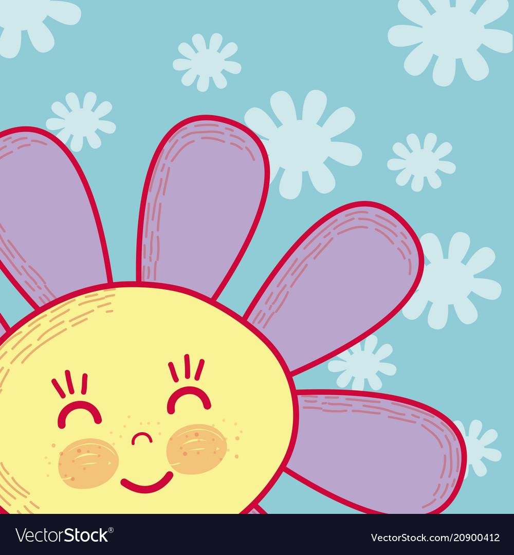 Beautiful flower cartoon royalty free vector image beautiful flower cartoon vector image izmirmasajfo