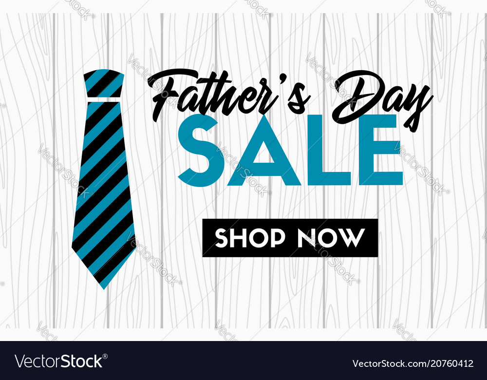 Fathers day sale banner with necktie