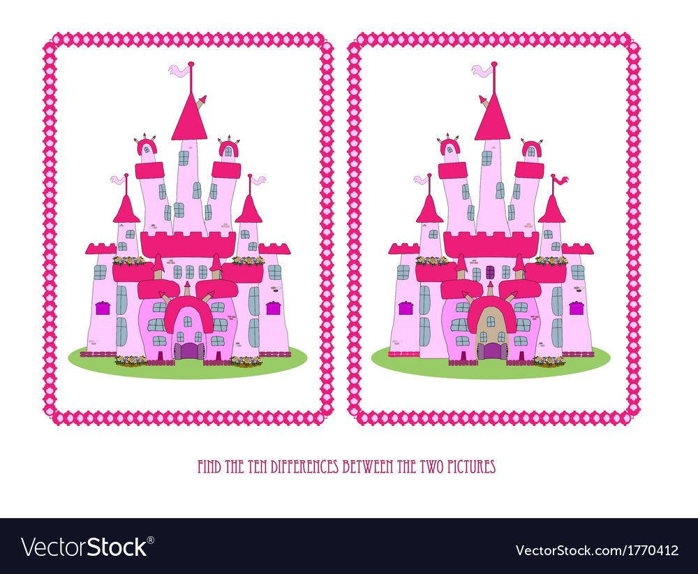 Game for children find the ten differences vector image