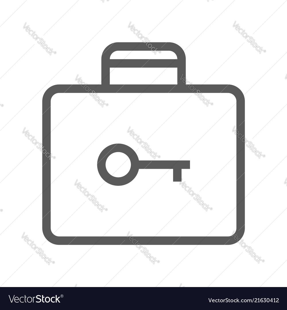 Public navigation line icon baggage storage