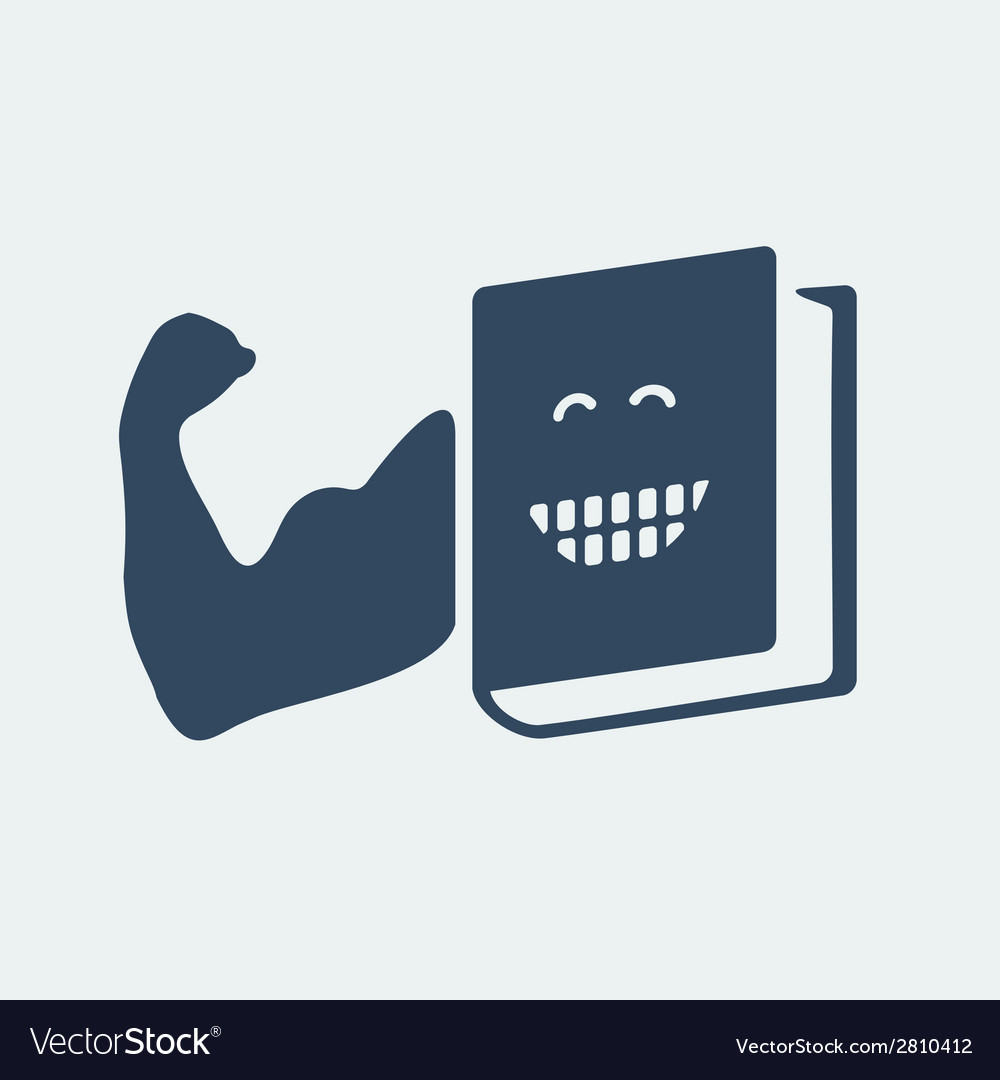 The book is your strength vector image
