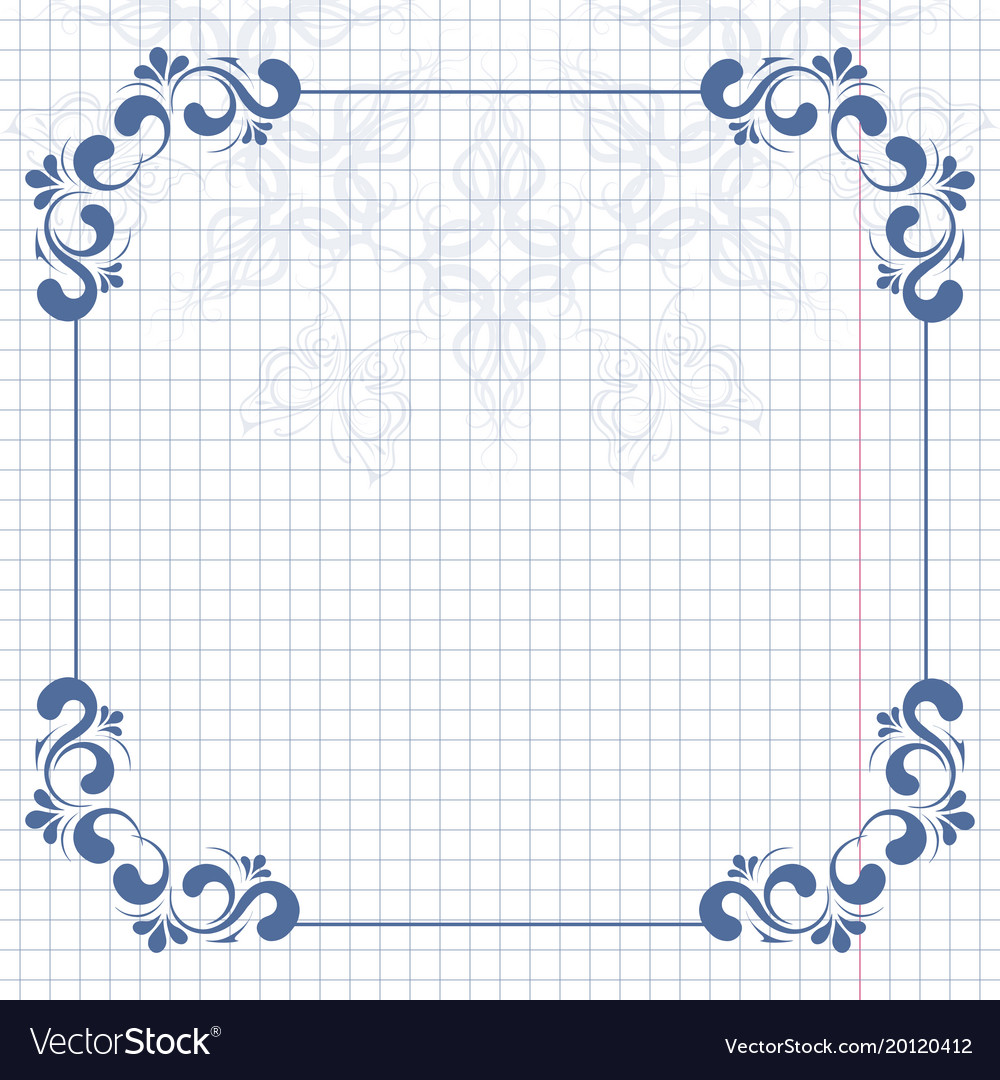 Vintage background and frame for design vector image