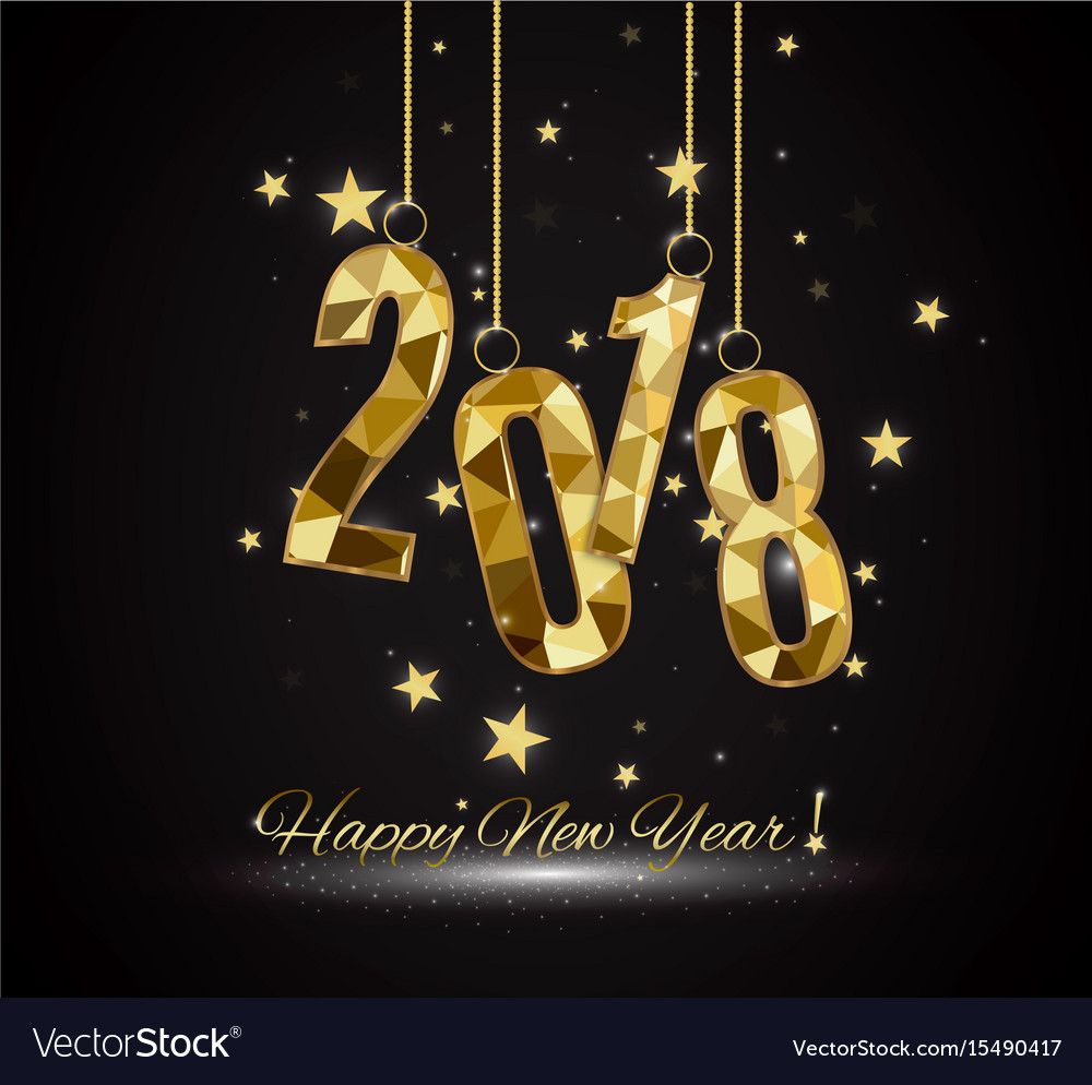 2018 happy new year background for your seasonal