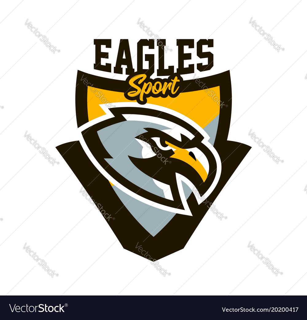 Colorful logo sticker emblem of a eagle flying
