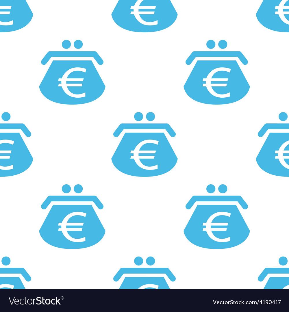 Euro purse seamless pattern