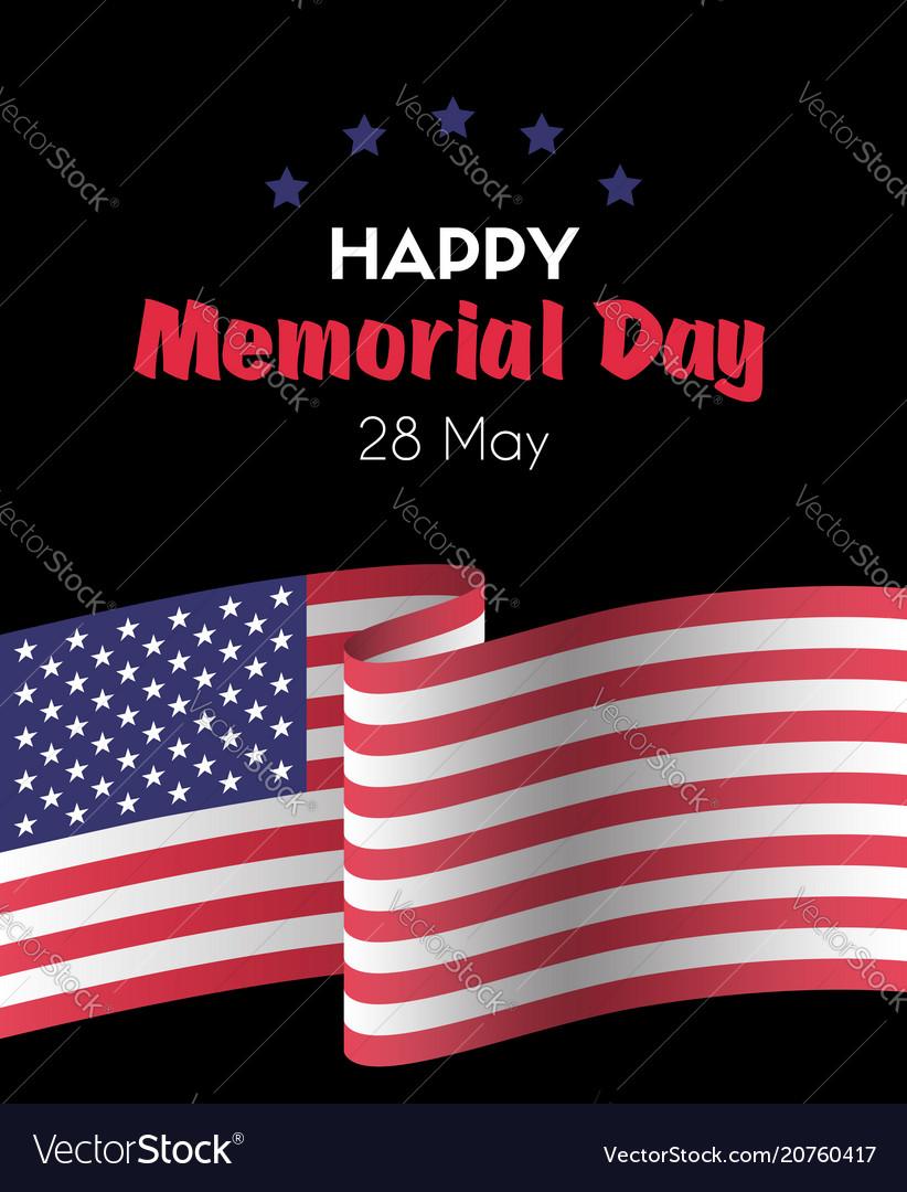 Happy memorial day 26 may greeting card