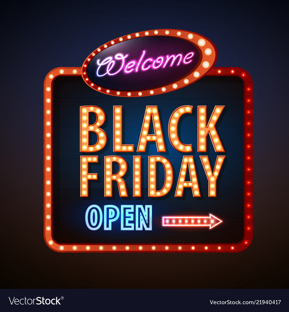 Neon sign black friday open
