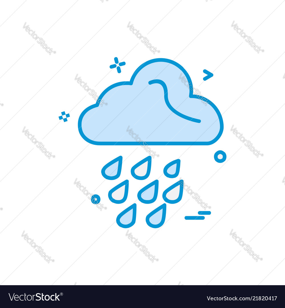 Rain icon design