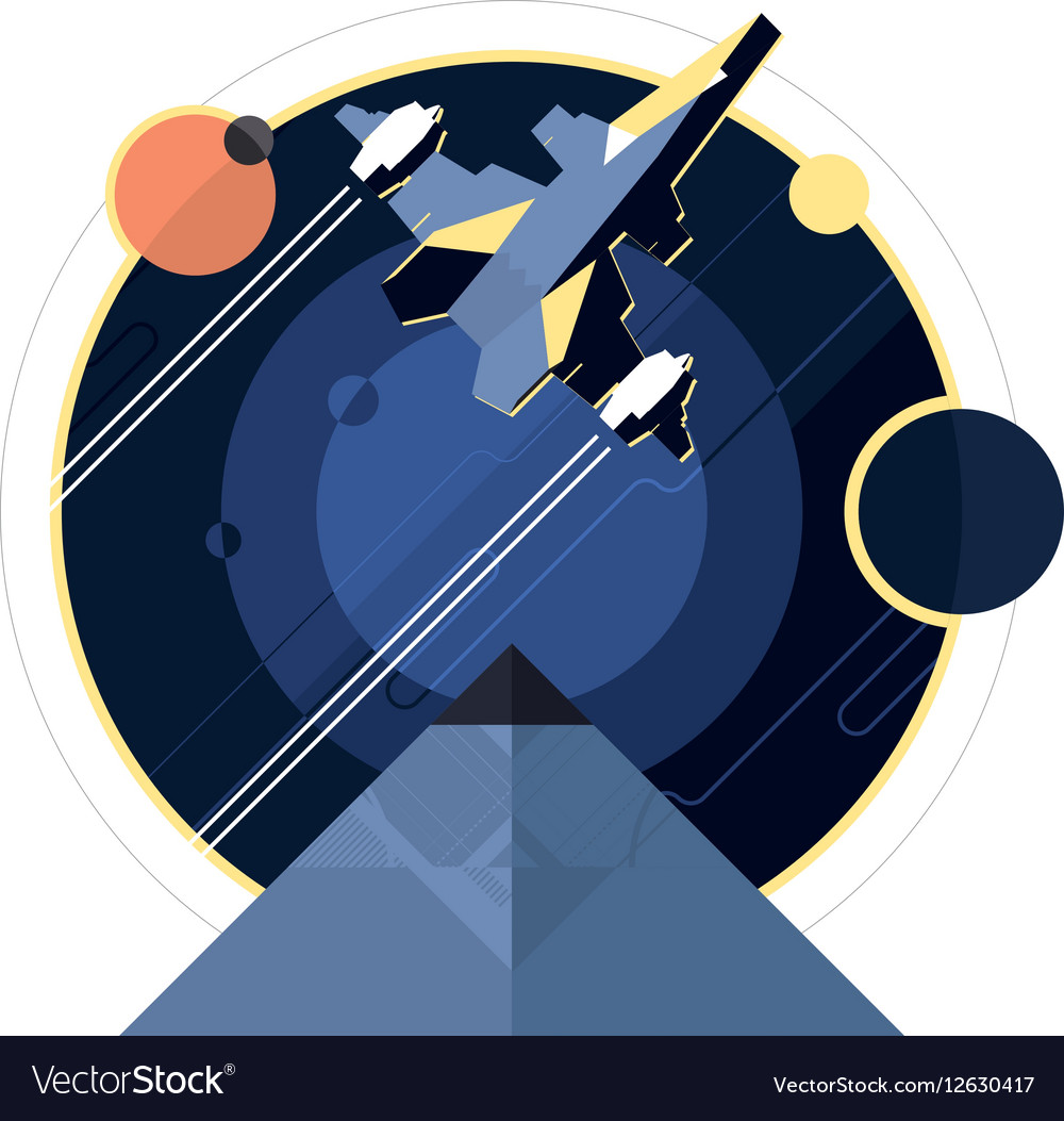 Spacecraft spaceship in space