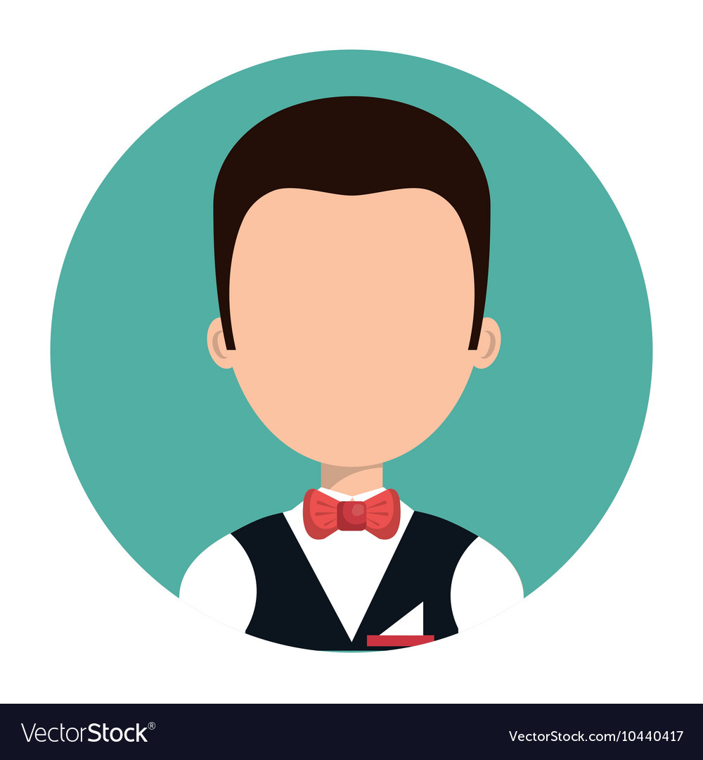 Waiter hotel service isolated vector image
