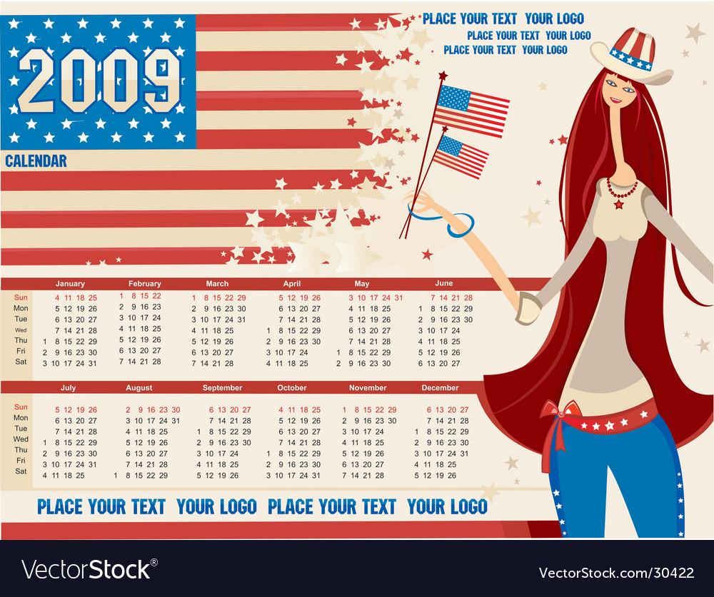2009 calendar with american girl