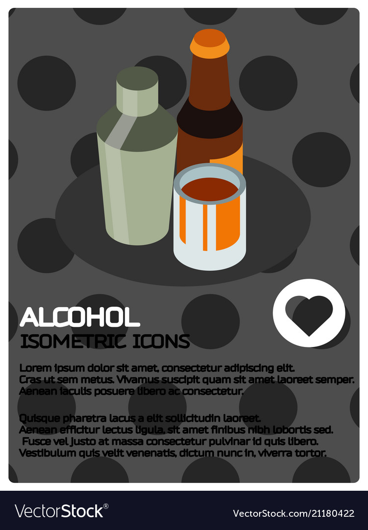 Alcohol color isometric poster