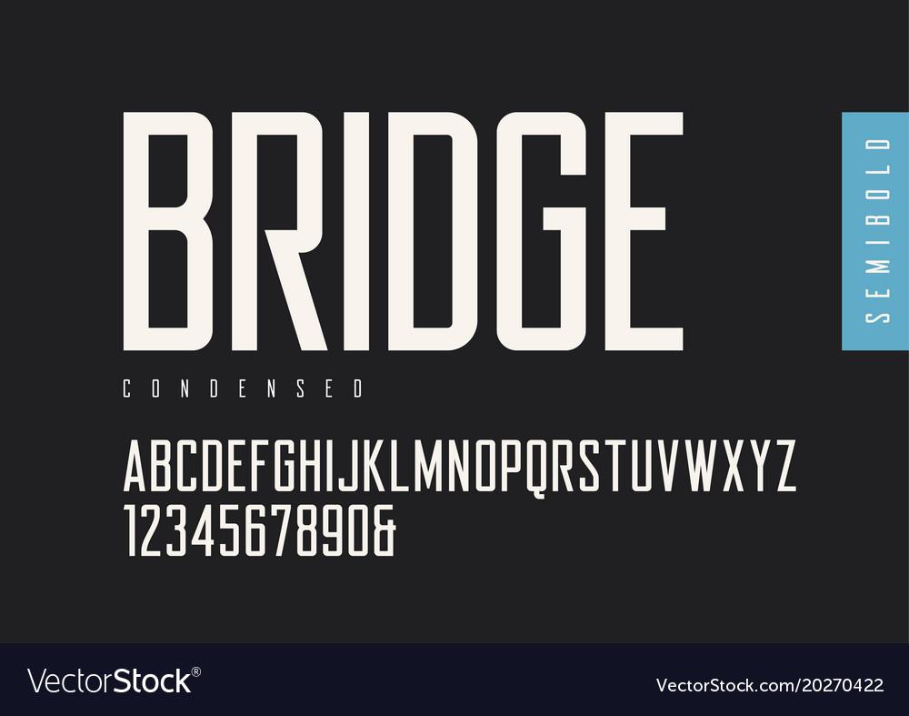 Condensed semibold retro sans serif